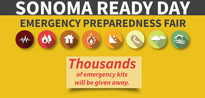 Sonoma Ready Day Emergency Preparedness Fair - Thousands of emergency kits will be given away.