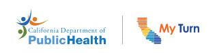 California Department of Public Health - My Turn California logo